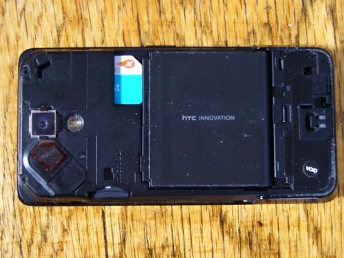 HTC Touch Pro Exposed Back