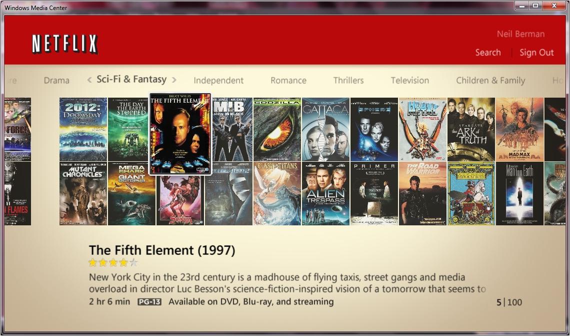 Netflix & Windows Media Center meet, and it's instant romance