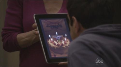 iPad birthday cake candles