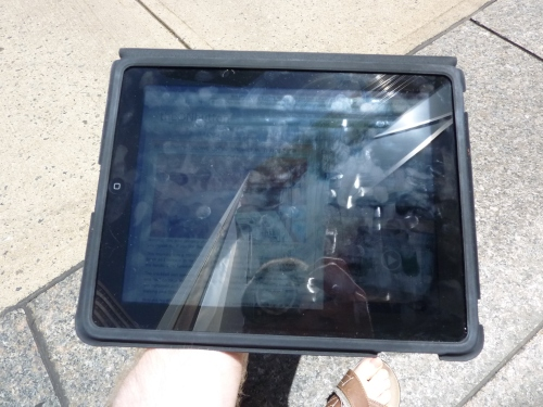 iPad screen glare outdoors