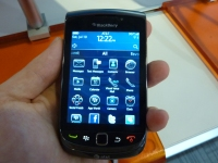BlackBerry Torch 9800 portrait home screen