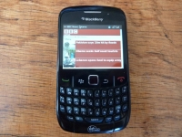 Virgin Mobile BlackBerry 8530 front